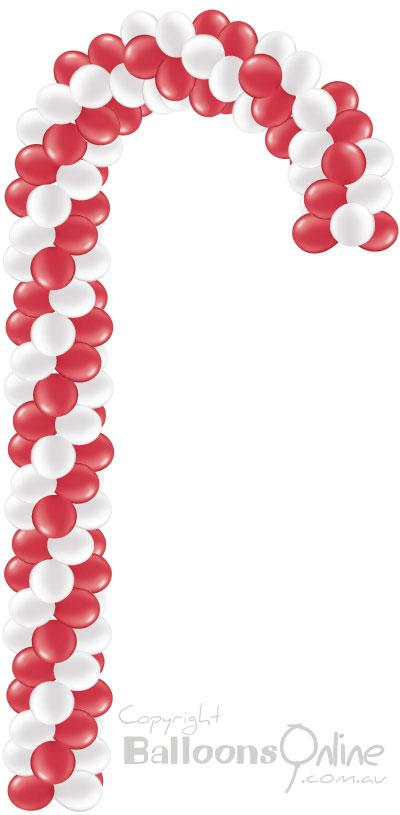 Balloon candy cane for Candy cane balloon sculpture