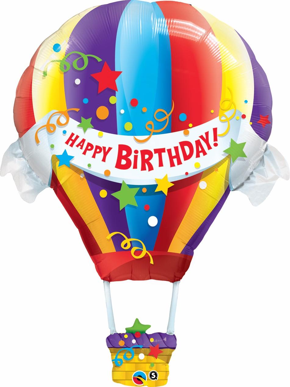 happy birthday supershape hot air balloon. Black Bedroom Furniture Sets. Home Design Ideas